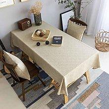 Home Brilliant Burlap Tablecloth Solid Farmhouse
