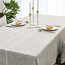 Home Brilliant Faux Burlap Tablecloth Rectangular