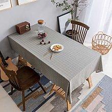 Home Brilliant Grey Table Cloth (52 x72 Inches)