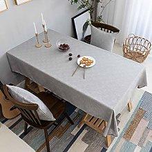 Home Brilliant Grey Tablecloth Solid Farmhouse