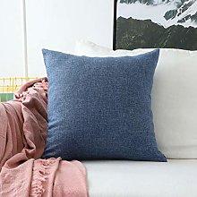 Home Brilliant Linen Euro Sham Large Throw Pillow
