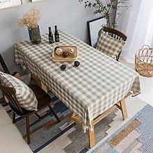 Home Brilliant Linen Table Cloth (52 x72 Inches)