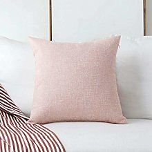 Home Brilliant Pillow Cover Decoration Lined Linen