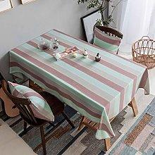Home Brilliant Striped Table Cloth (52 x 102)