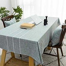 Home Brilliant Striped Table Cloth (52 x72 Inches)