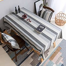 Home Brilliant Striped Table Cloth for 8 ft Table