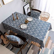 Home Brilliant Table Cloth Blue (52 x52 Inches)