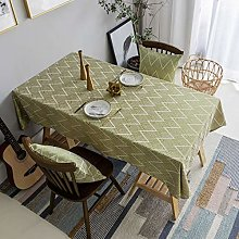 Home Brilliant Table Cloth Golden (52 x72 Inches)