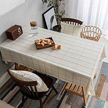 Home Brilliant Table Cloth Rectangular Waterproof