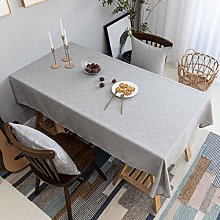 Home Brilliant Tablecloth Grey Solid Farmhouse