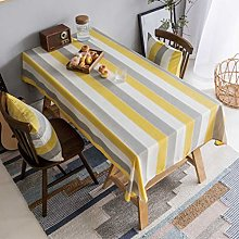 Home Brilliant Yellow Tablecloth Waterproof
