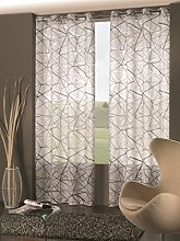 Home Collection Abstract Curtain, Polyester,