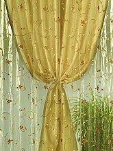 Home Collection tds114 Double Curtain Shantung
