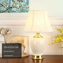 Home Creativity American Ceramic Lamp, Simple Desk