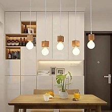 Home Creativity Chandelier, 5 Light Wood Mini