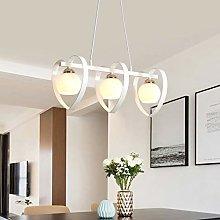 Home Creativity Chandelier Light 3 Head Iron Heart