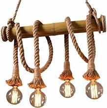 Home Creativity Vintage Chandeliers,Hemp Rope