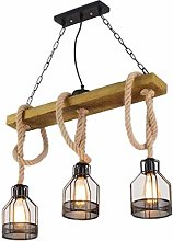 Home Creativity Vintage Wooden Pendant Light Loft