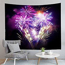 Home decor polyester fabric night firework