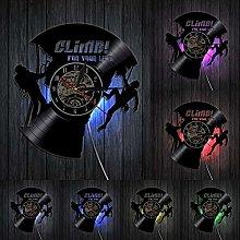 home decor Rock Climbing Vinyl Record Clock For