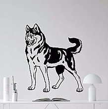 Home Decoration Husky Dog Wall Decal Vinyl Nursery
