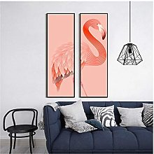 Home Decoration Painting Flamingo Pink Wall Art