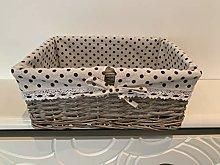 Home Delights Grey White Large Storage Hamper Gift