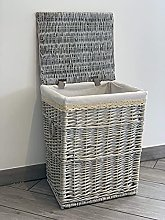 Home Delights Large Grey Laundry Basket Rattan