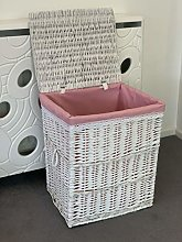 Home Delights New Large White Laundry Basket Pink