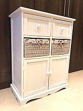 Home Delights White Storage Unit 2 Cupboard 2