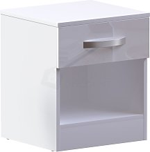 Home Discount - Hulio 1 Drawer Bedside Cabinet,