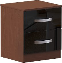 Home Discount - Hulio 2 Drawer Bedside Cabinet,