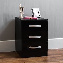 Home Discount - Hulio 3 Drawer Bedside Cabinet,