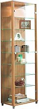 HOME Double Glass Display Cabinet 4 Glass Shelves