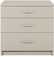 Home Essentials - Peru 3 Drawer Bedside Cabinet