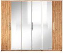 Home Essentials - Prague 6 Door Mirrored Wardrobe