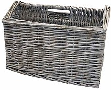 Home-ever Willow Wicker Magazine Storage Basket