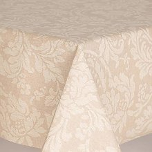 HOME-EXPRESSIONS Damask Scrolls Oilcloth Table
