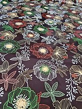 HOME-EXPRESSIONS ® PVC Tablecloth Brown Ground