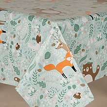 HOME-EXPRESSIONS Woodland Fox Pvc Wipe Clean Vinyl