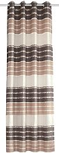 Home Fashion Eyelet Curtain, Brown