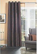 Home Fashion Eyelet Curtain, Fabric Brown
