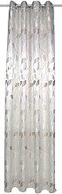 Home Fashion Eyelet Curtain, Fabric, Natural, 245