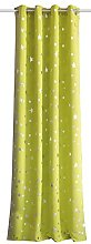 Home Fashion Eyelet Curtain, Green