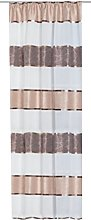 Home Fashion Loop-Top Curtain with Horizontal