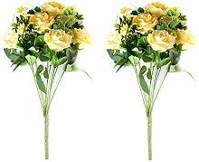Home & Garden 2 PCS Artificial Rose Flowers