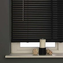Home In Style PVC Blinds Easy Fit Window Black
