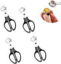 Home Kitchen Aid Egg Scissors 4 Pieces Stainless