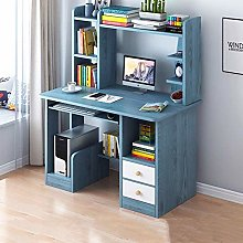 Home Large Computer Desk with Bookshelf,Office