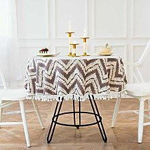 Home Large Round Table Cloth Cotton Linen Triangle